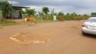 Camp Enari gate foundation
