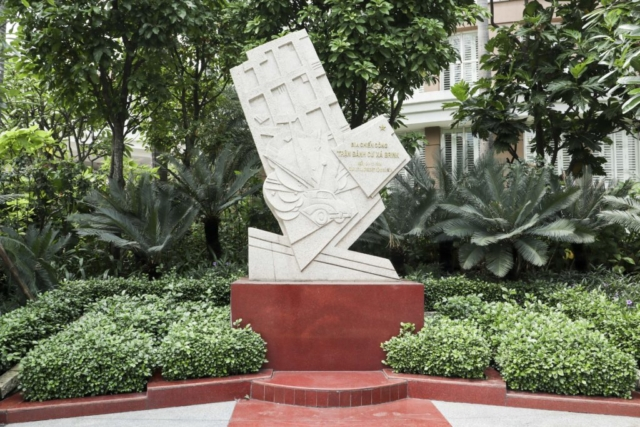 Monument over Brink Hotel Bombing
