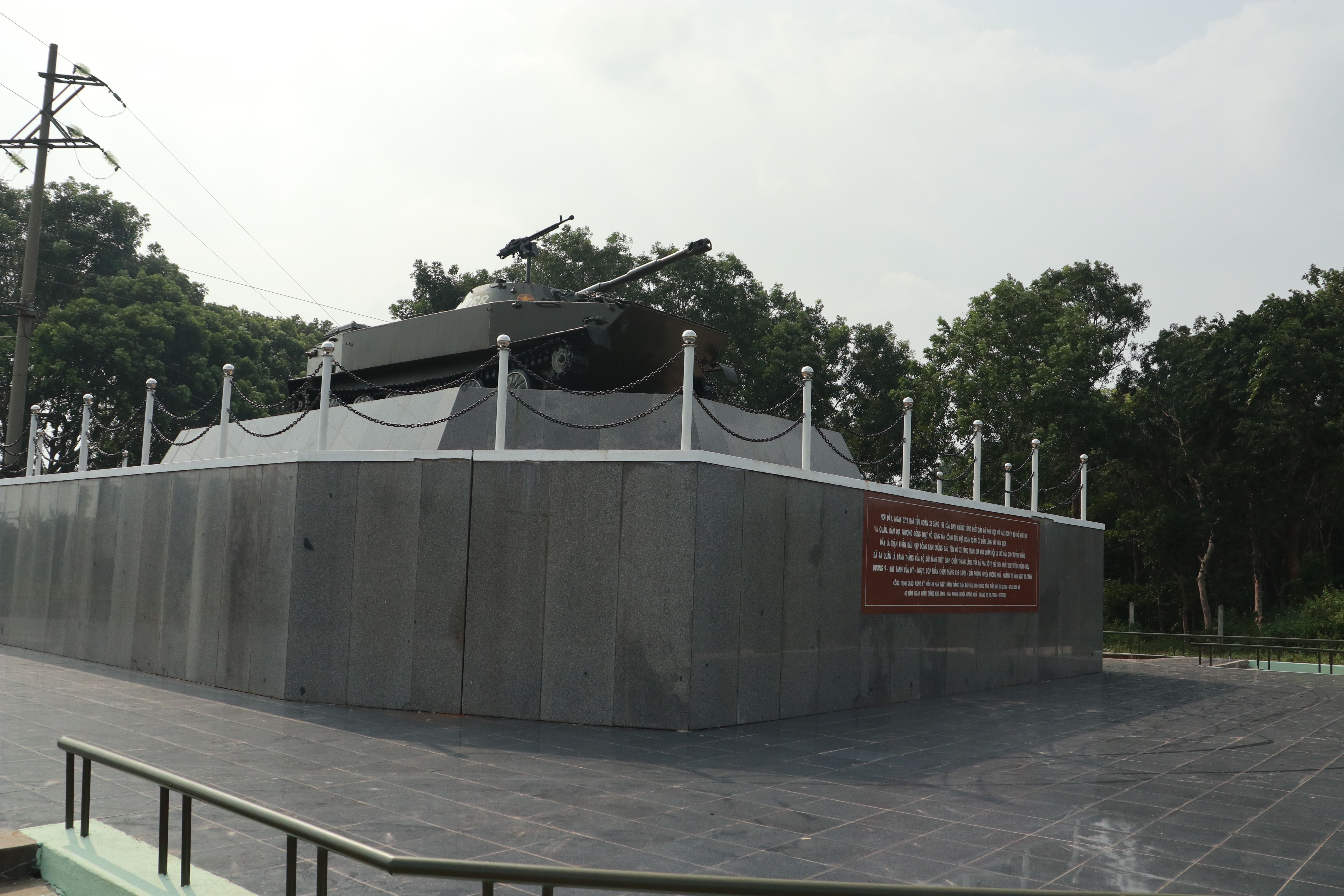 Lang Vei Special Forces Camp PT-76 monument
