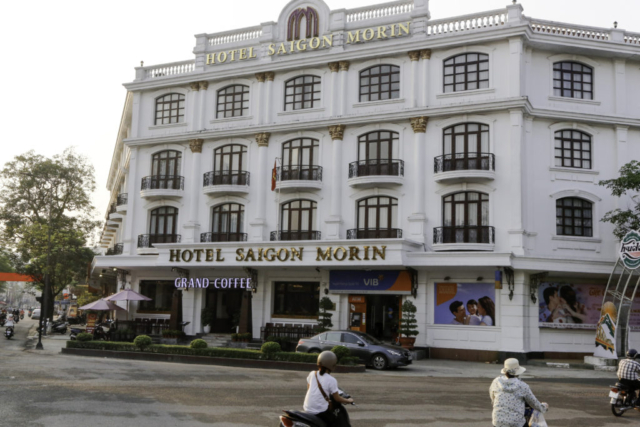 Main Entrance of Saigon Morin Hotel, then Hue University